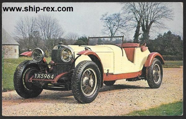 1927 Mercedes Benz at National Motor Museum - postcard
